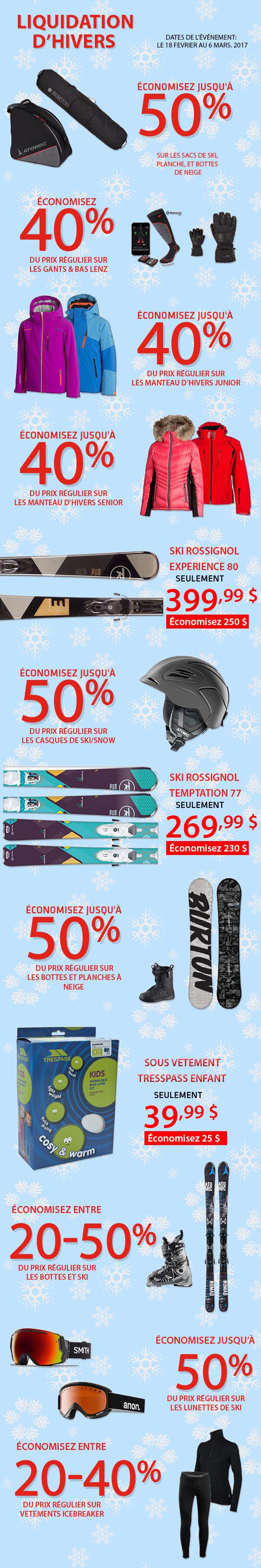 Ski clearance